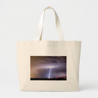 Lightning Strikes Following the Rain Tote Bags