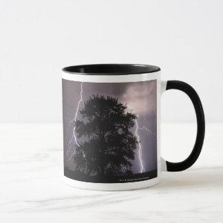 Lightning Strikes In The Sky Behind A Tree Mug