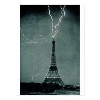 Lightning Strikes the Eiffel Tower, 1902 Postcard