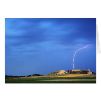 Lightning strikes the Wildcat Hills near Greeting Card