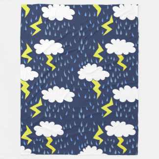Lightning Strikes Thunderstorm Fleece Blanket