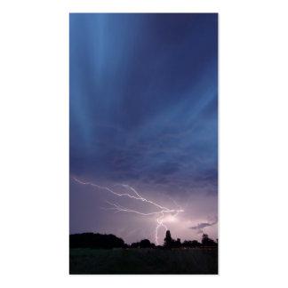 Lightning Striking During Thunderstorm Pack Of Standard Business Cards