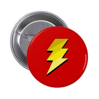 Lightning Thunder Bolt 6 Cm Round Badge