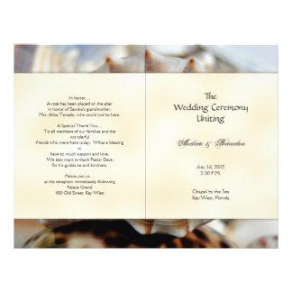 Lightning Whelk Seashell Wedding Program Template 21.5 Cm X 28 Cm Flyer