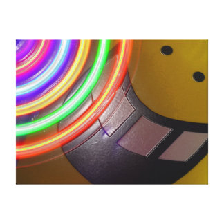 Lights and a Smile Stretched Canvas Print
