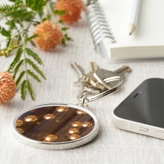 Lights and Colors Silver-Colored Round Key Ring