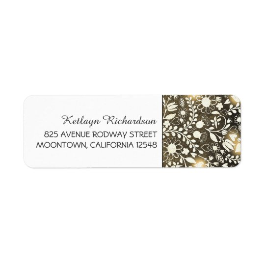 lights and flowers cute wedding address labels
