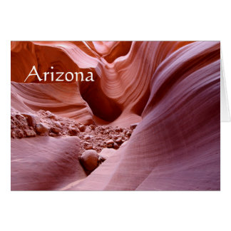 Lights and rocks in the canyon, Arizona Card