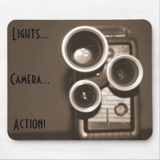 Lights Camera Action Mouse Pad