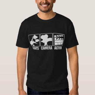 Lights, Camera, Action T-shirts