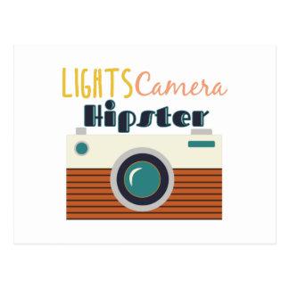 Lights Camera Hipster Postcard