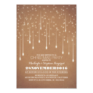 Lights Christmas Party Winter Season 13 Cm X 18 Cm Invitation Card