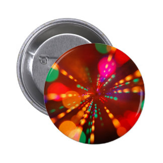 Lights glowing (blur motion background) 6 cm round badge