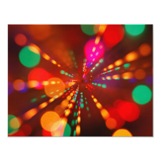 Lights glowing (blur motion background) 11 cm x 14 cm invitation card