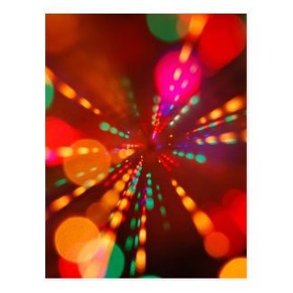 Lights glowing (blur motion background) postcard