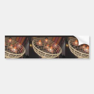 LIGHTS  in a Basket : Interior Decoration Sparkle Car Bumper Sticker