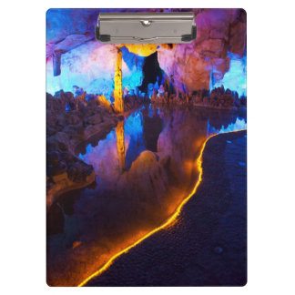 Lights in Reed Flute Cave, China Clipboard