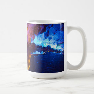 Lights in Reed Flute Cave, China Coffee Mug