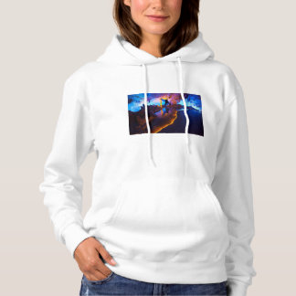 Lights in Reed Flute Cave, China Hoodie
