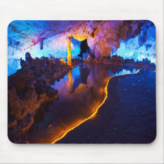 Lights in Reed Flute Cave, China Mouse Pad