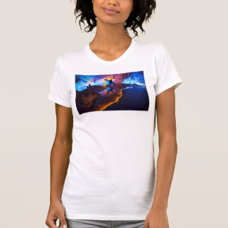 Lights in Reed Flute Cave, China T-Shirt
