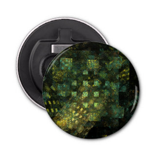 Lights in the City Abstract Art Button