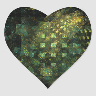Lights in the City Abstract Art Heart Sticker