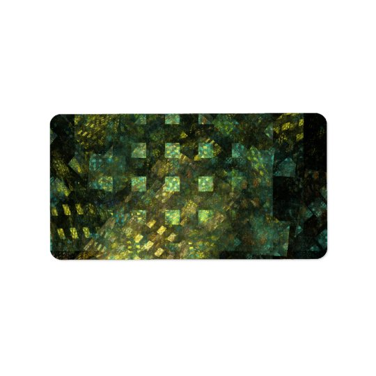 Lights in the City Abstract Art Label