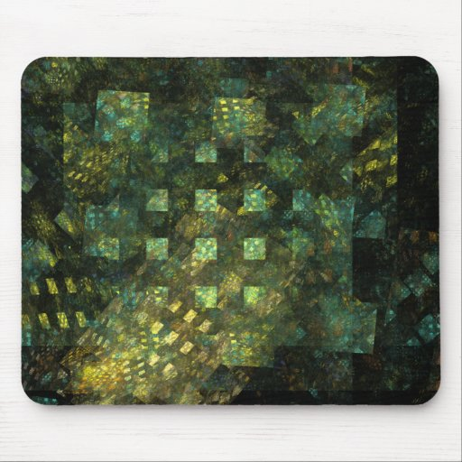 Lights in the City Abstract Art Mousepad