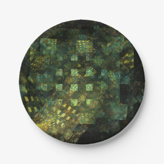 Lights in the City Abstract Art Paper Plate