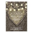 Lights + Oak Tree Bark Bridal Shower Invitations