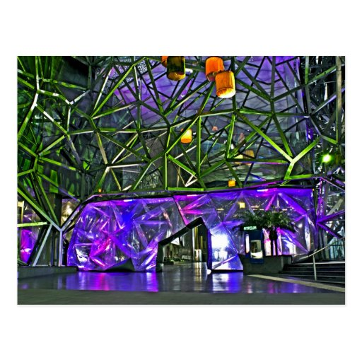 Lights of Federation Square Post Cards