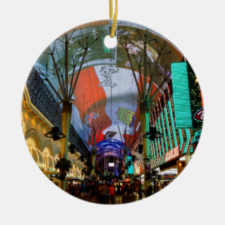 Lights Of Fremont Street Ceramic Ornament