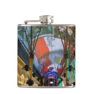 Lights Of Fremont Street Hip Flask