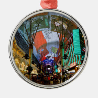 Lights Of Fremont Street Metal Ornament