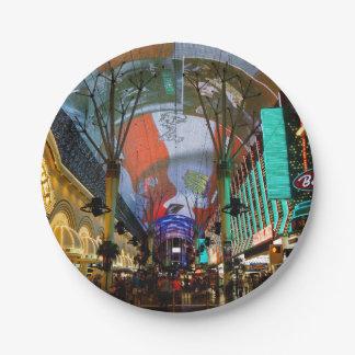 Lights Of Fremont Street Paper Plate