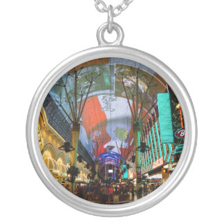 Lights Of Fremont Street Silver Plated Necklace