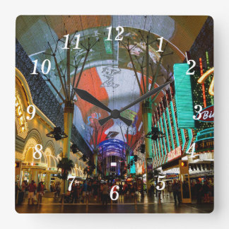 Lights Of Fremont Street Square Wall Clock