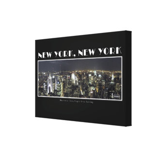 Lights of New York City Canvas Stretched Canvas Prints