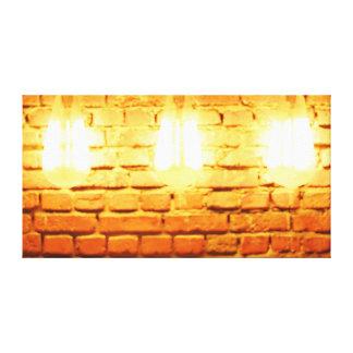 Lights On Brick Canvas Print