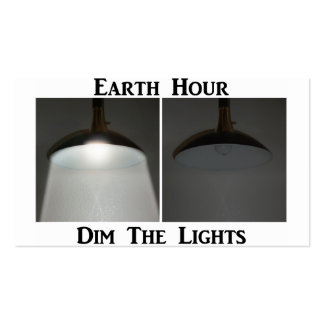 Lights On / Off - Dim the Lights for Earth Hour Pack Of Standard Business Cards