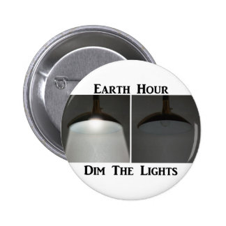 Lights On Off - Dim the Lights for Earth Hour Pins