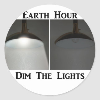 Lights On / Off - Dim the Lights for Earth Hour Stickers