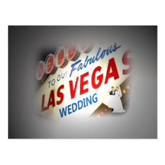 """Lights on the """"Bride & Groom"""" Our Wedding in Las V Post Cards"""