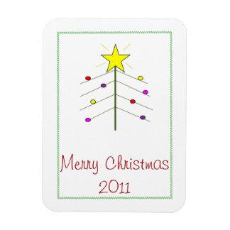 Lights on the Christmas Tree Rectangular Photo Magnet