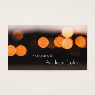 lights RK night Business Card