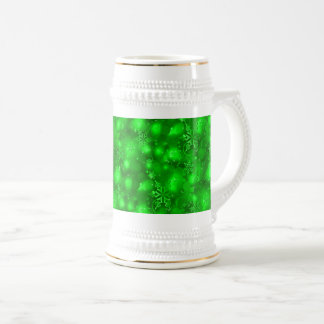 Lights & Snowflakes, Green - Christmas Beer Stein