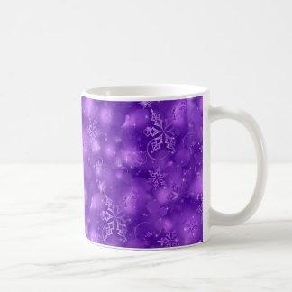 Lights & Snowflakes, Purple - Christmas Coffee Mug
