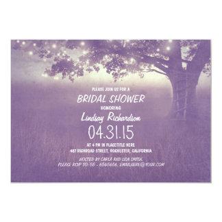 lights tree rustic bridal shower invitation