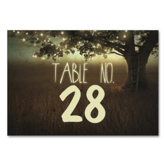 Lights Tree Wedding Table Number Cards Place Cards Table Card